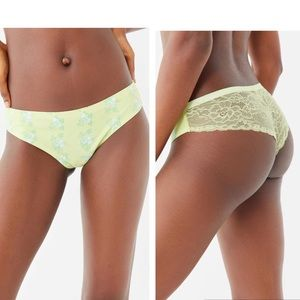New Out From Under Nina Laser-cut Lace-back Thong